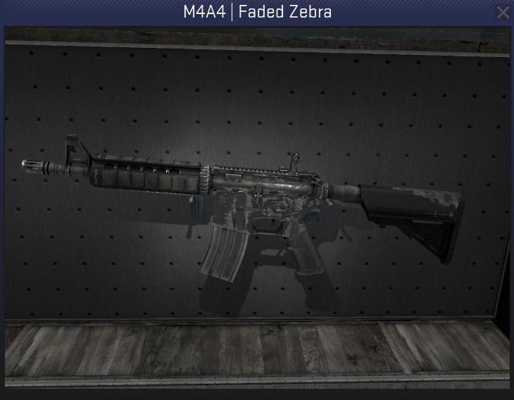 m4a4 faded zebra battle-scarred