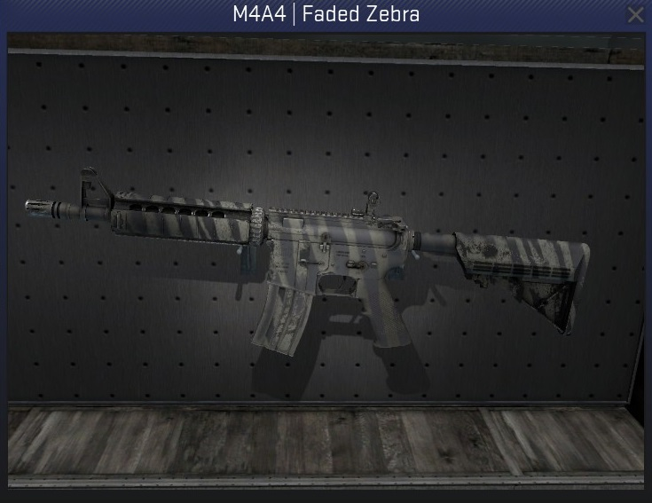 m4a4 faded zebra factory new