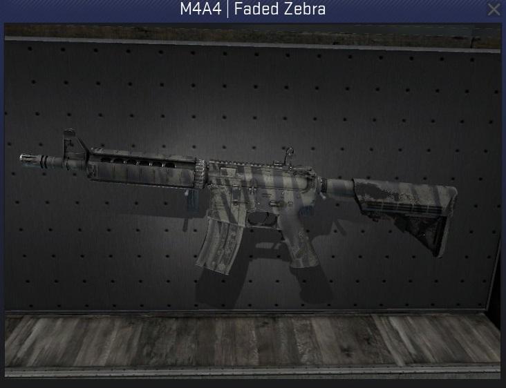 m4a4 faded zebra minimal wear