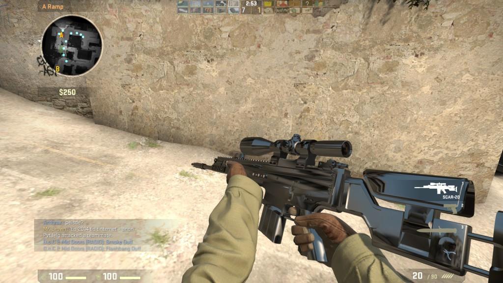 как играть снайпером scar-20 cs go