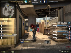 Игрок стреляет, а рук и оружия не видно