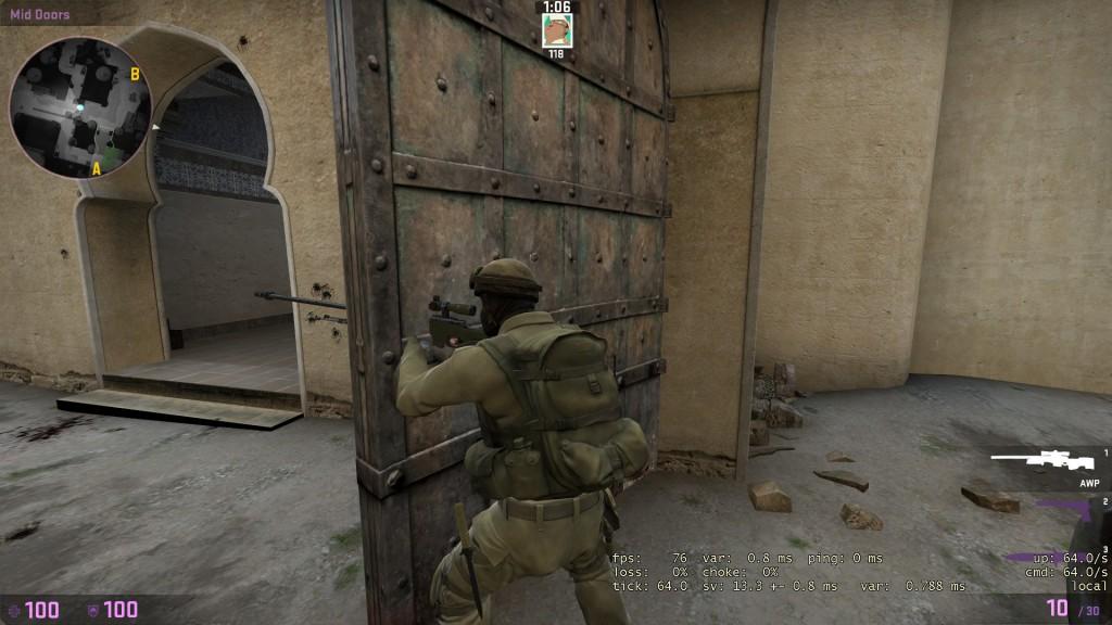 вид оружие сквозь текстуры в cs:go