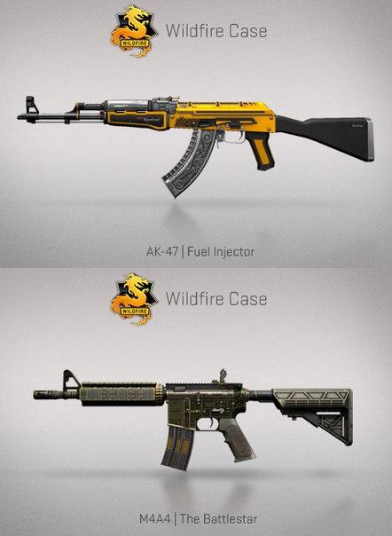 AK-47 Fuel Injector и M4A4 The Battlestar