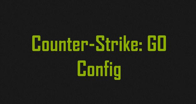 Стандартный конфиг для CS GO